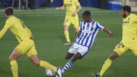 Isak, durante el partido Villarreal - Real Sociedad de la jornada 21 de La Liga