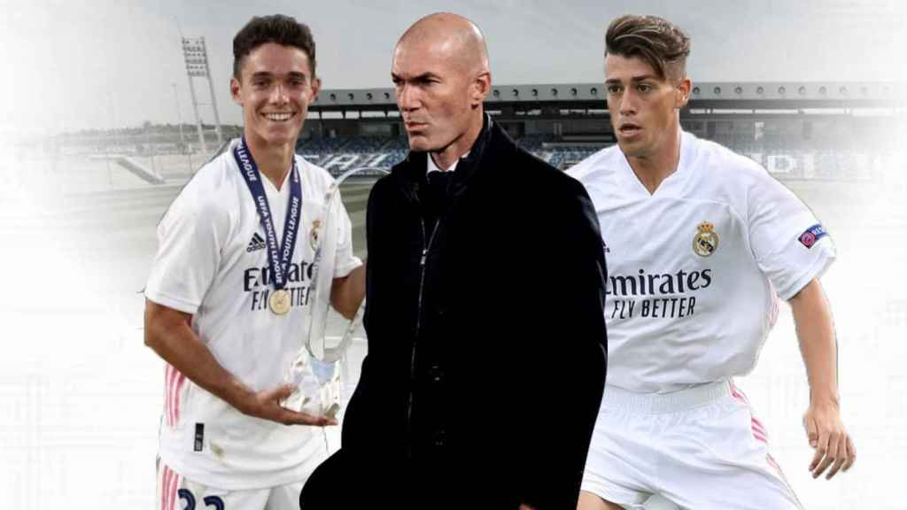 Sergio Arribas, Zidane y Antonio Blanco, en un fotomontaje