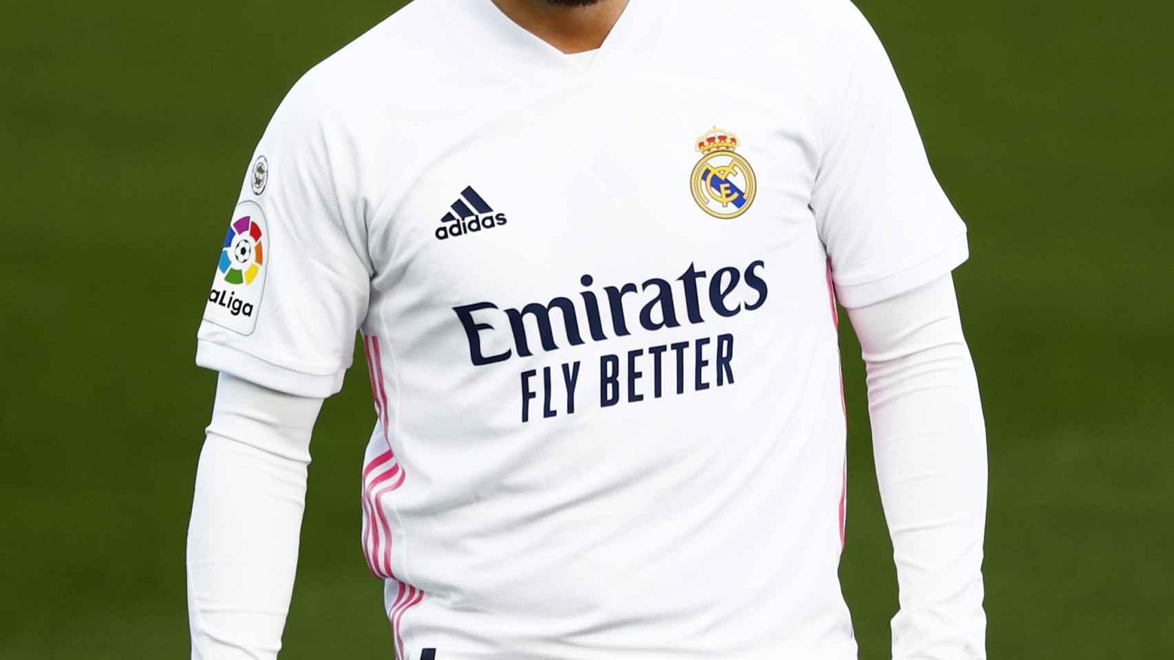 Eden Hazard, durante el Real Madrid - Levante
