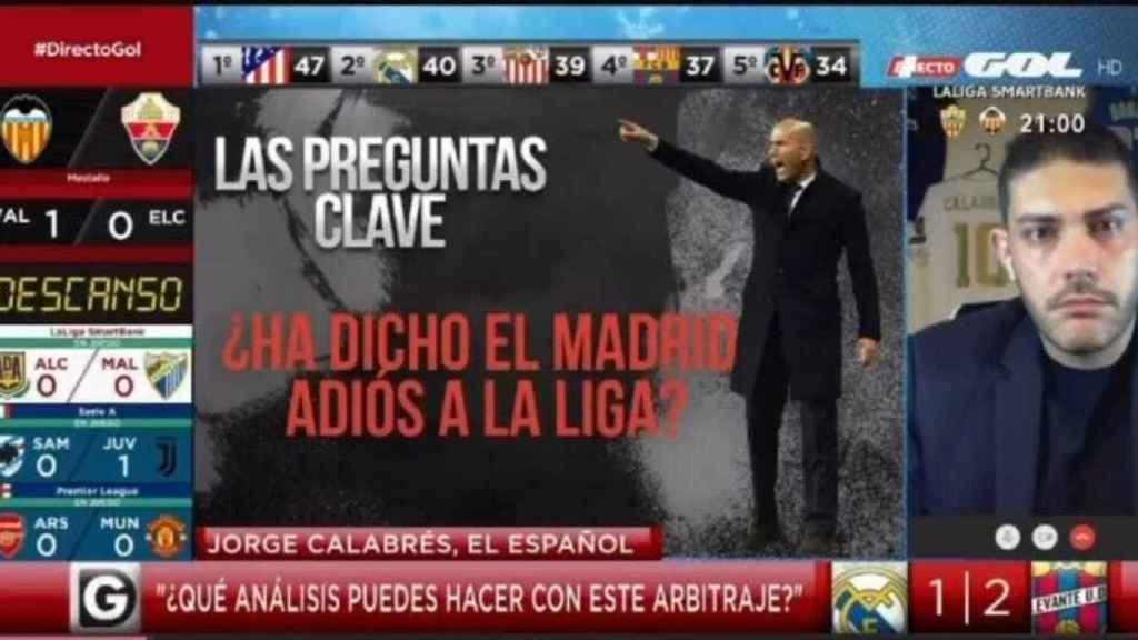 Jorge Calabrés, en Directo Gol