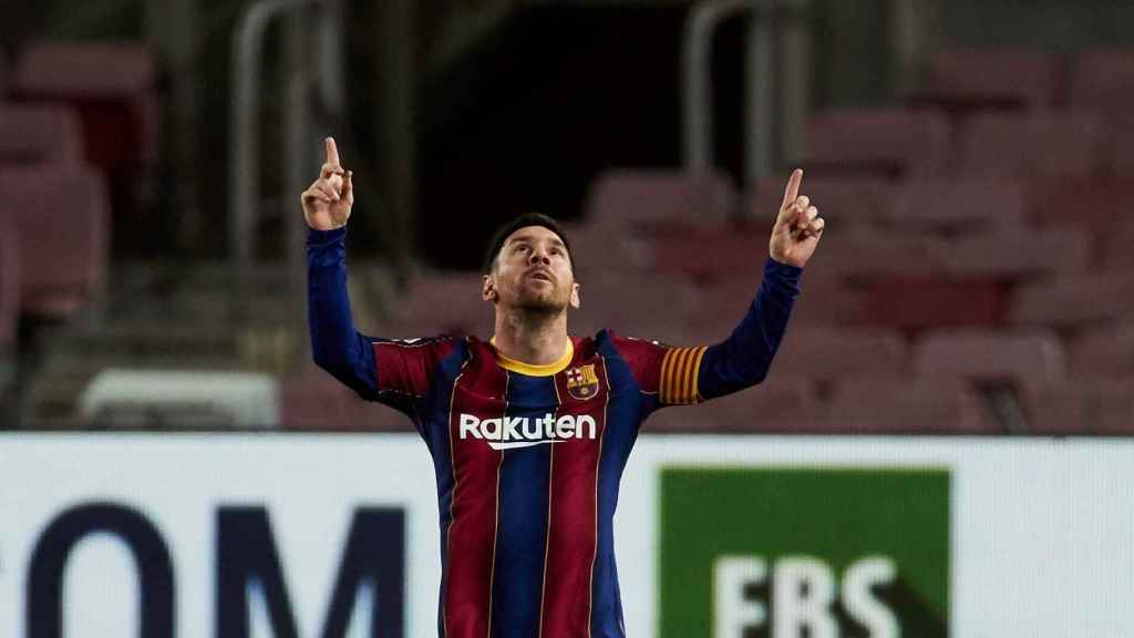 Messi celebra un gol ante el Athletic