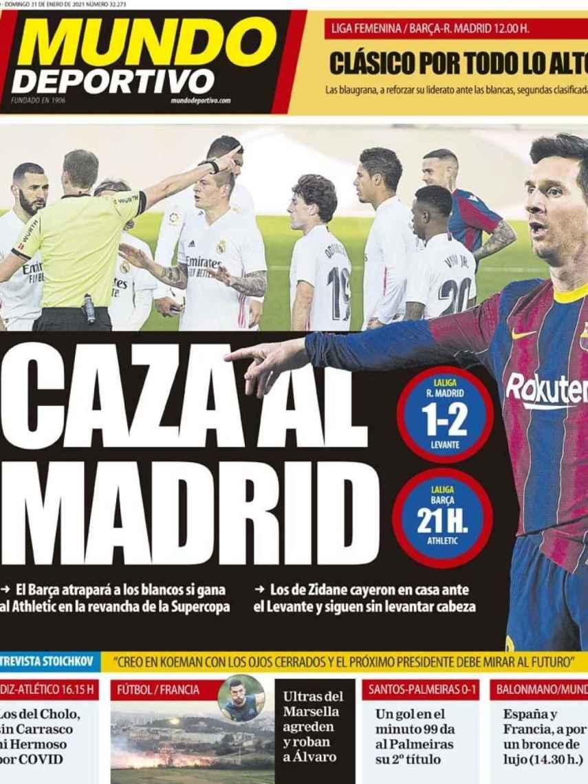 La portada del diario Mundo Deportivo (31/01/2021)