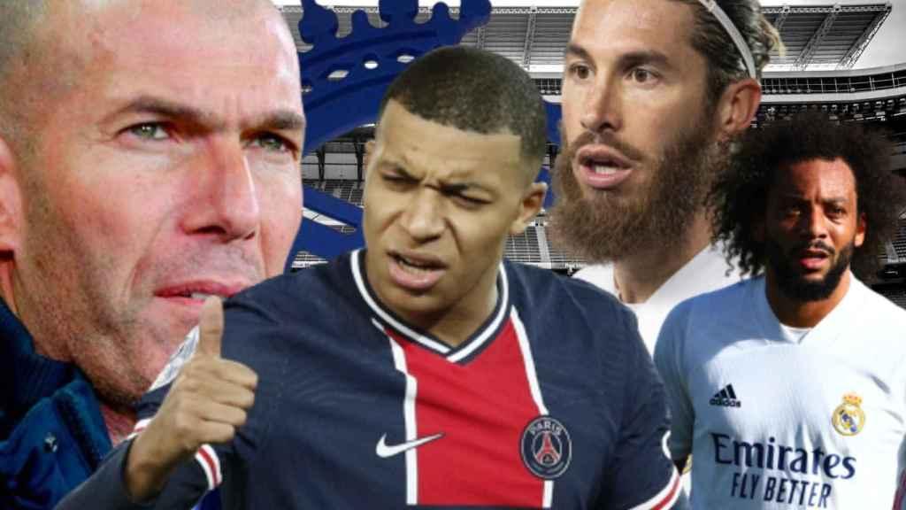 Zidane, Mbappé, Sergio Ramos y Marcelo