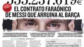 Imagen parcial de la portada de El Mundo de este domingo