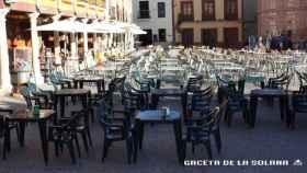 Terraza en la Plaza mayor de La Solana