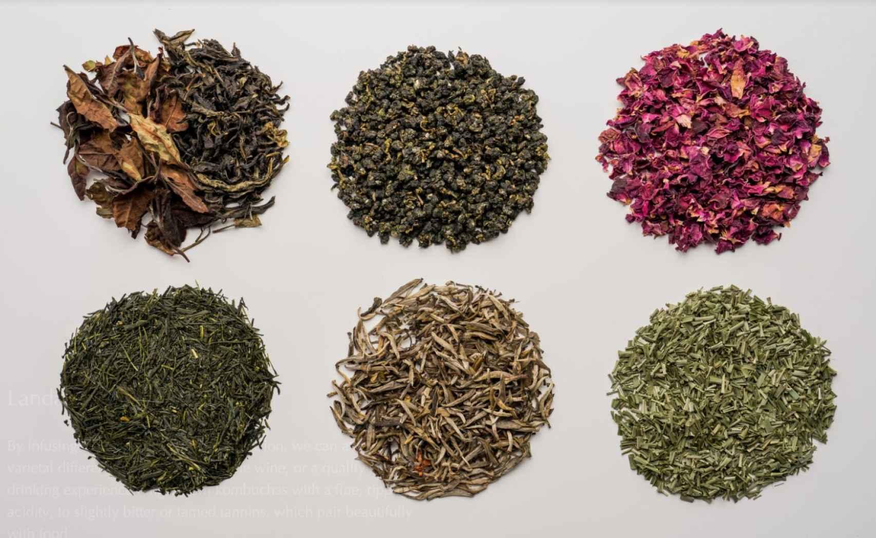 El té proviene de plantaciones sostenibles de Japón, China, India, Sri Lanka y África.