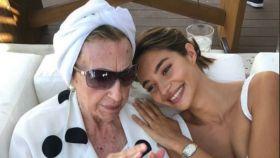 Rocío Crusset con su abuela Blanca.