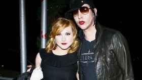 Wood y Manson cuando fueron pareja en la adolescencia de ella.