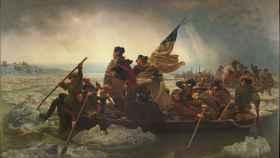 George Washington cruzando el río Delaware.