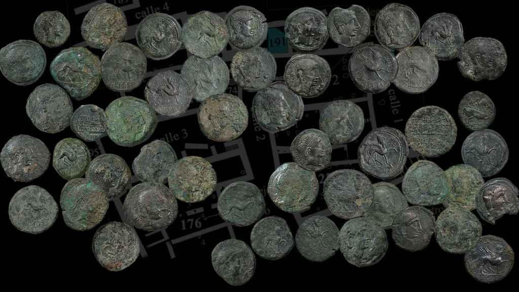 Las monedas tardorrepublicanas halladas en Libisosa.