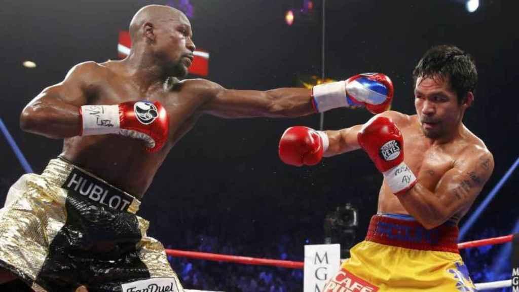 Mayweather contra Pacquiao, en el combate de 2015