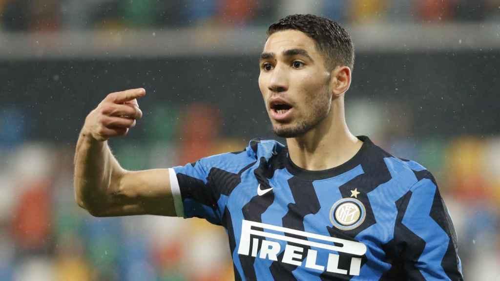 Achraf Hakimi, en un partido del Inter de Milán