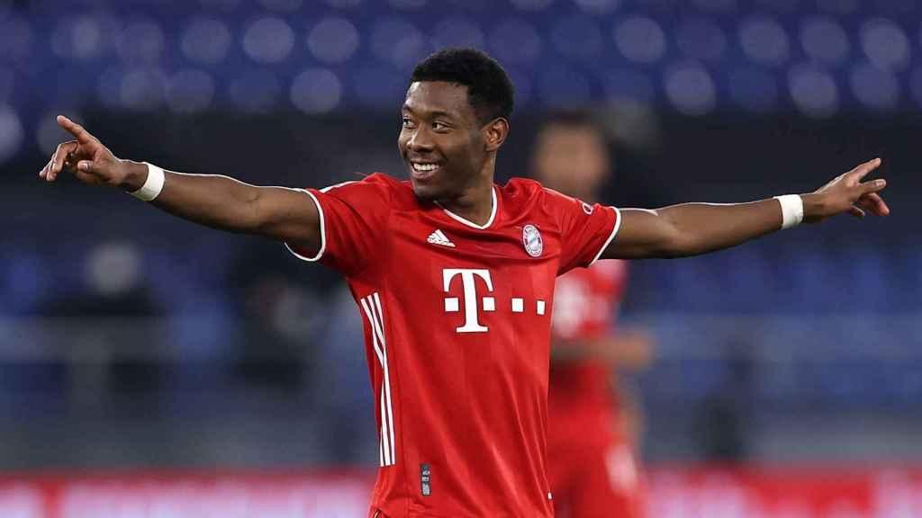 Alaba celebra un gol con el Bayern Munich