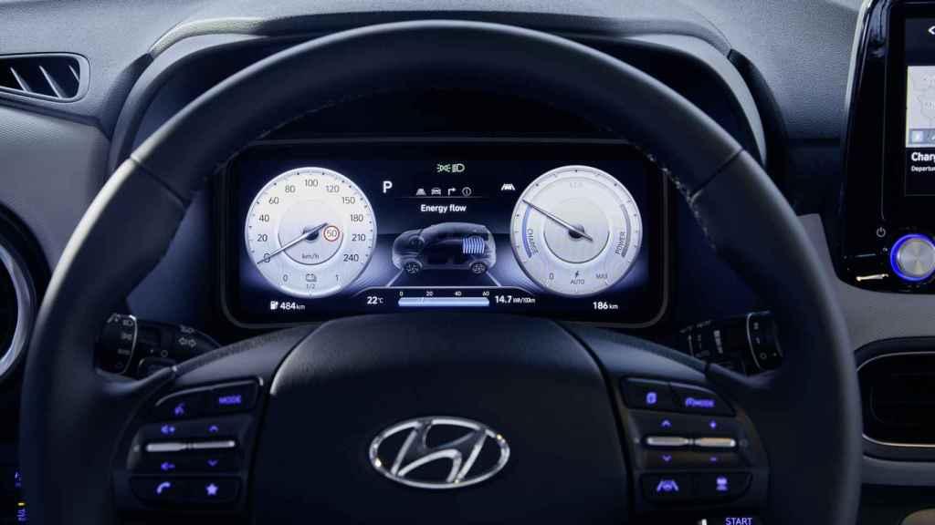 Interior del Hyundai Kona EV.