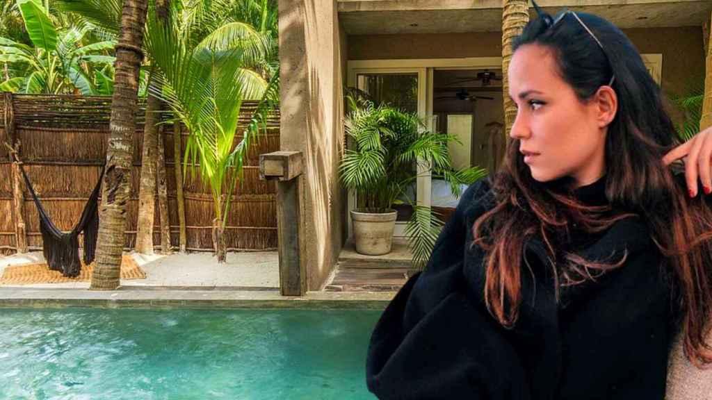 Carolina Monje viajó a Tulum, México, para pasar el final e inicio de año.