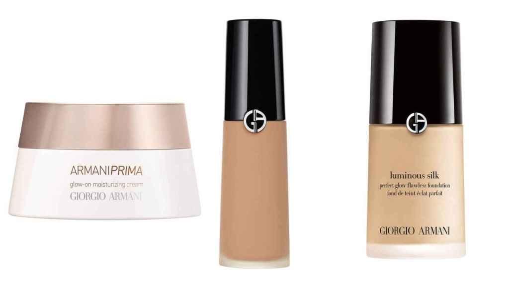 Linda Cantello utiliza estos tres productos de maquillaje para el rostro.