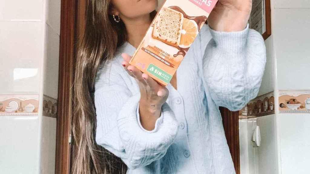 Melyssa Pinto desayuna, desde hace 7 años, un paquetito de galletas Biocentury cada día.