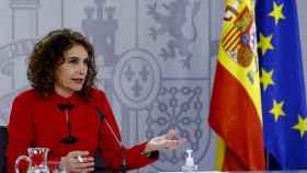 María Jesús Montero en la rueda de prensa posterior al Consejo de Ministros.