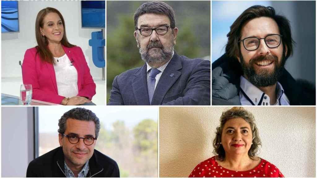 De izquierda a derecha, Nancy Ortega, Juan Jesús Gestal, y Elvis Garcia; abajo, Quique Bassat y Carmen Álvarez Domínguez.