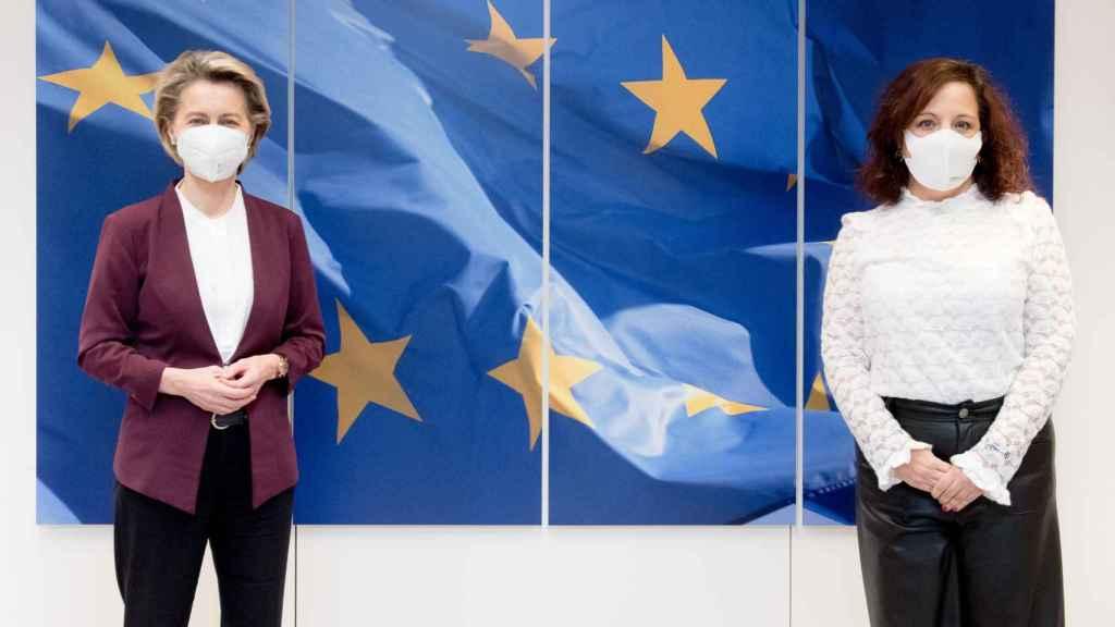 Ursula von der Leyen se ha reunido este martes con la jefa del grupo socialista en la Eurocámara, Iratxe García