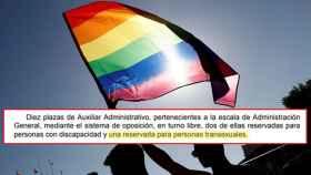 El texto publicado en el BOE que contempla la reserva de plaza para personas transexuales.