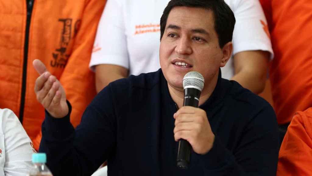 Fotografía de archivo fechada el 13 de enero de 2021, del candidato del correísmo, Andrés Arauz.