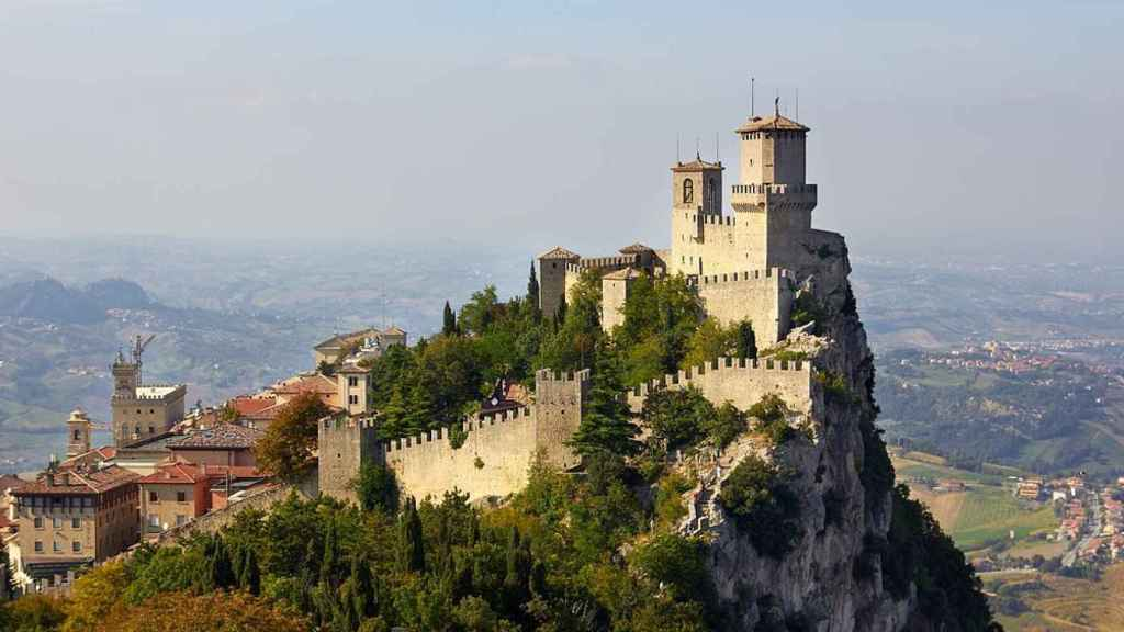 Las tres torres de San Marino (Italia)