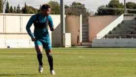 Cedric en el entrenamiento de este martes. Foto: Albacete Balompié