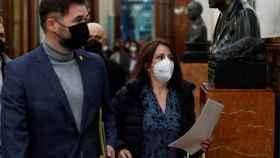 Adriana Lastra y Gabriel Rufián, en una imagen reciente en el Congreso.