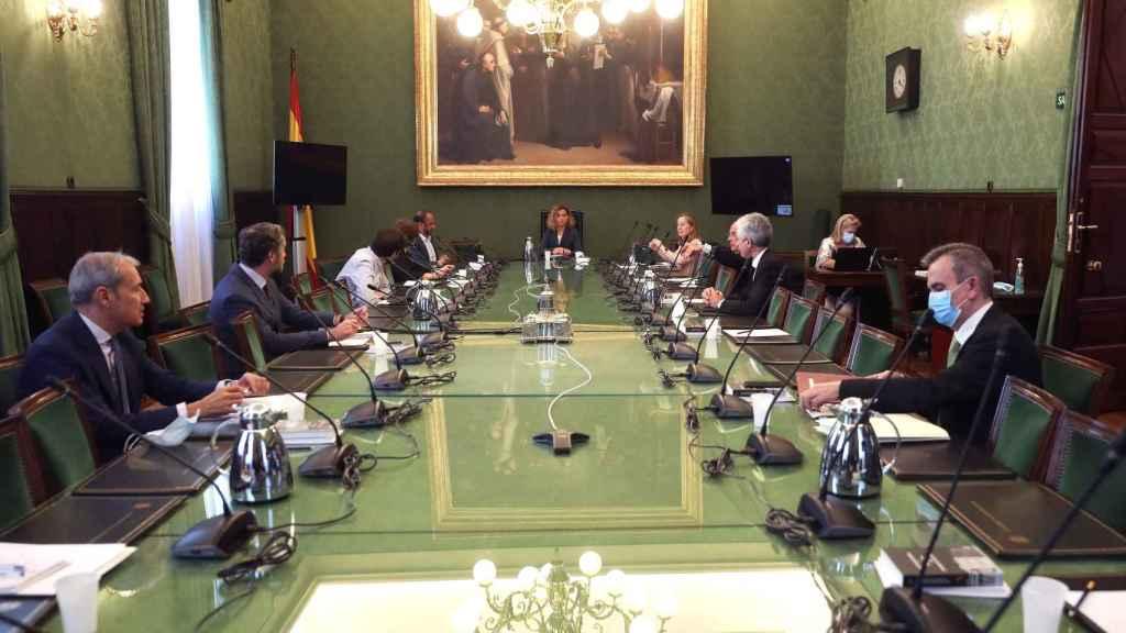 Mesa del Congreso de los Diputados.