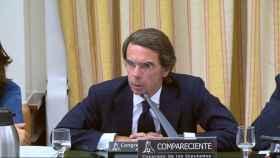 Aznar, durante su comparecencia en el Congreso en septiembre de 2018./