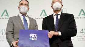 Elías Bendodo y Rogelio Velasco han presentado Andalucía Trade