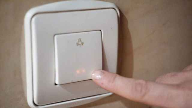 Imagen de un interruptor de la luz.