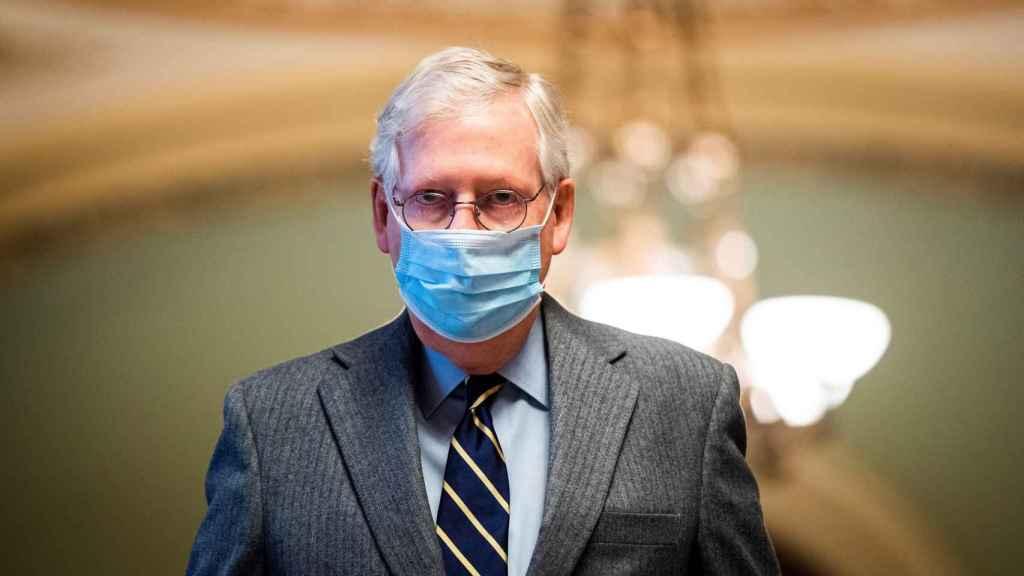 Mitch McConnell, líder del Partido Republicano en el Senado de Estados Unidos.