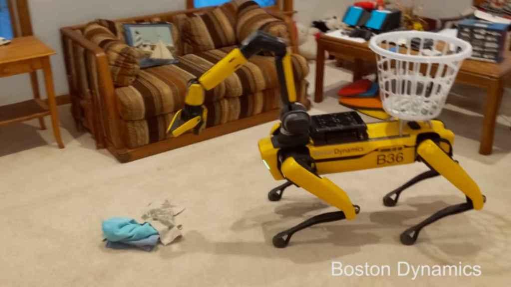Spot, el perro robot de Boston Dynamics, ahora tiene un brazo.