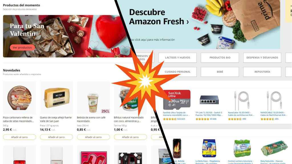 Amazon Fresh vs Mercadona.
