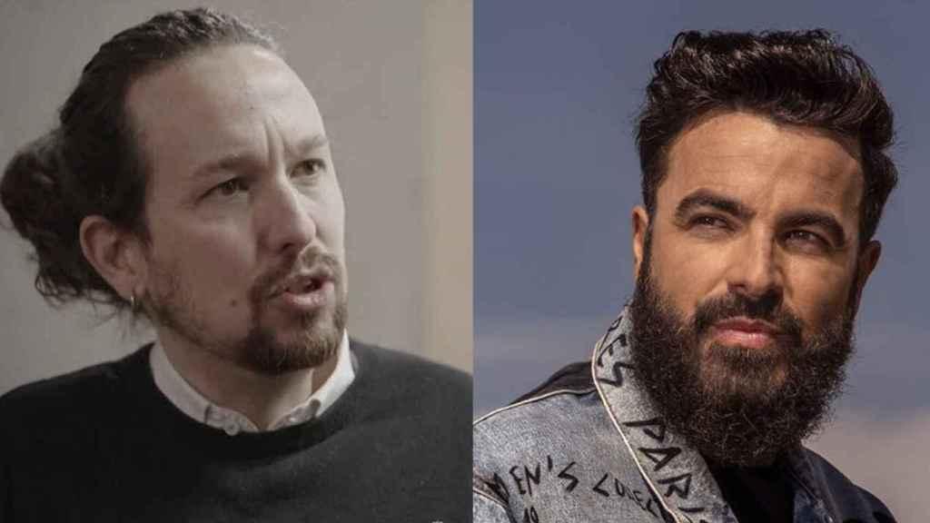 Pablo Iglesias y Huecco en un fotomontaje.