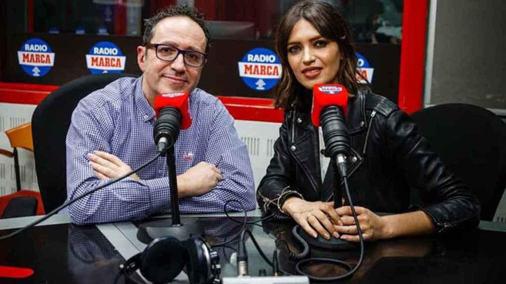 Sara Carbonero y Vicente Ortega en Radio Marca.