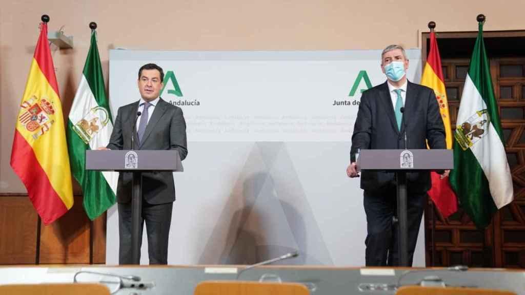 Imagen de archivo del presidente de la Junta de Andalucía y el presidente de Renault España.