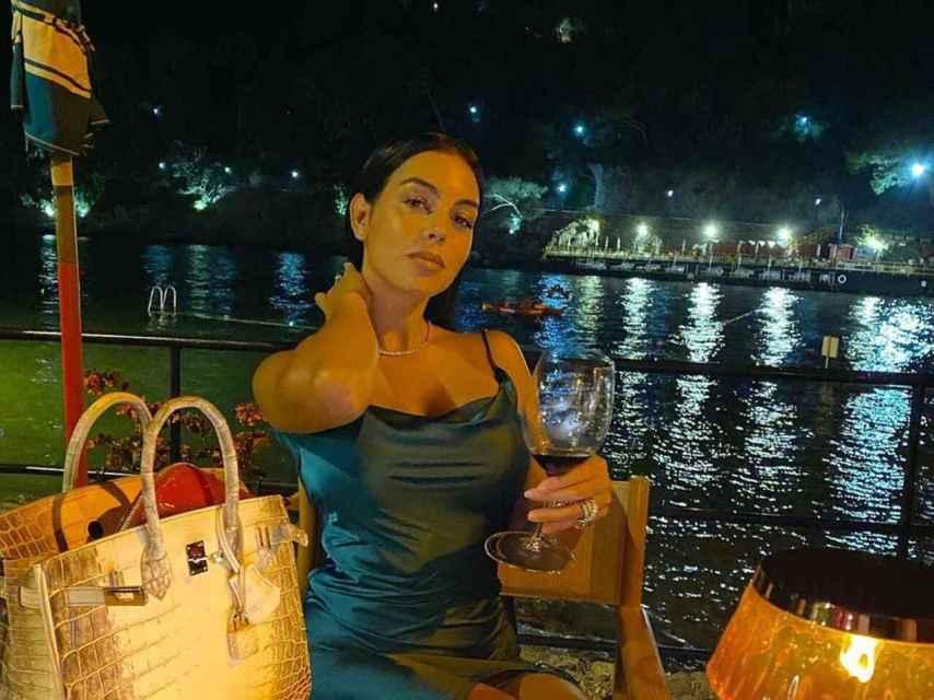 Georgina Rodríguez en Portofino el verano pasado.