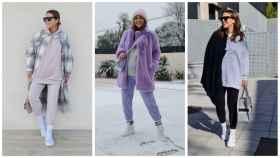 Paula Echevarría se ha aficionado este invierno a lucir los calcetines por encima del pantalón.