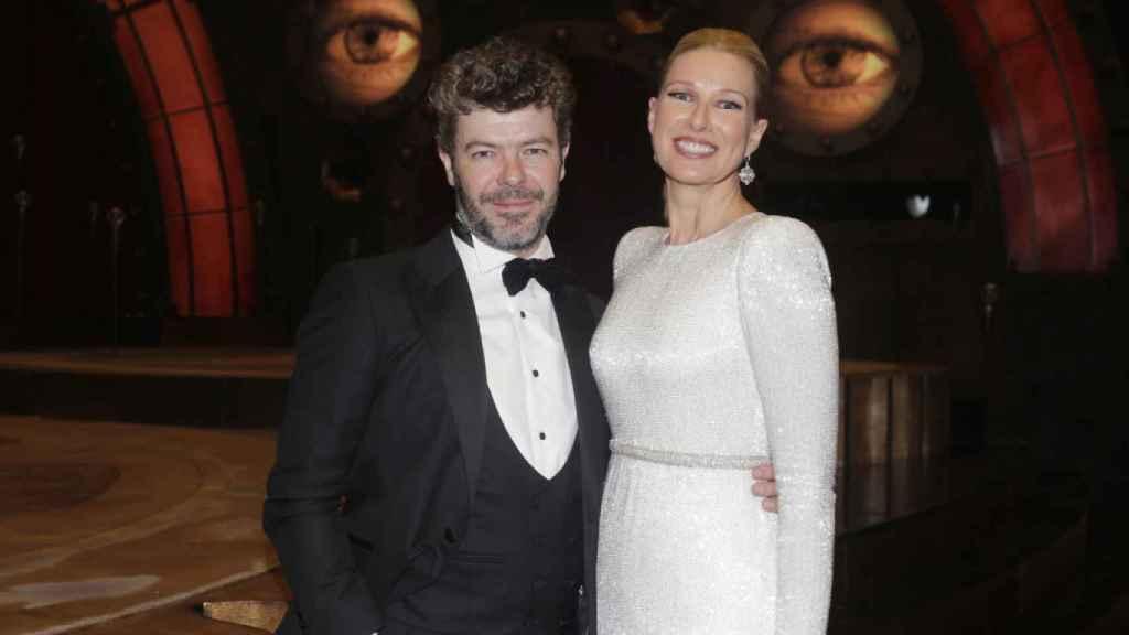 Pablo Heras-Casado y Anne Igartiburu, en los premios Goya.