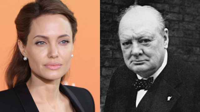 Angelina Jolie y Winston Churchill.