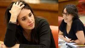 Irene Montero y su asesora en el Ministerio de Igualdad Teresa Arévalo, cuando era diputada de Podemos.