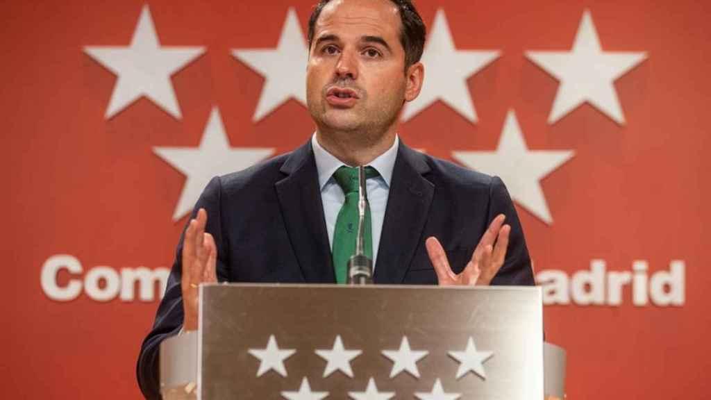 El vicepresidente de la Comunidad de Madrid, Ignacio Aguado, este miércoles. Efe