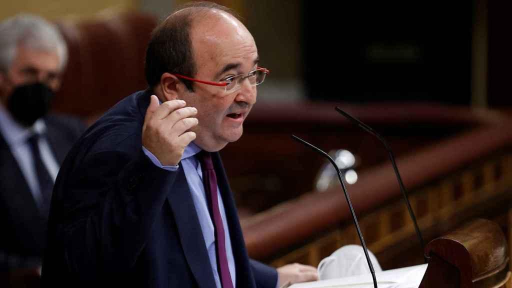 Miquel Iceta, ministro de ministro de Política Territorial y Función Pública, en el Congreso.