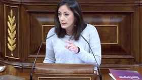 La diputada de Unidas Podemos Isabel Franco el pasado miércoles en el Congreso.