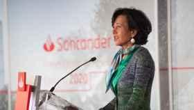 Ana Botín, presidenta del Banco Santander, en la presentación de cuentas anuales 2020.
