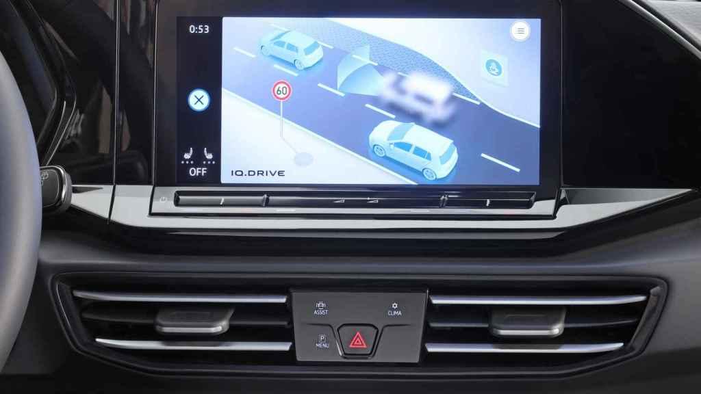 Pantalla central del nuevo Volkswagen Caddy.