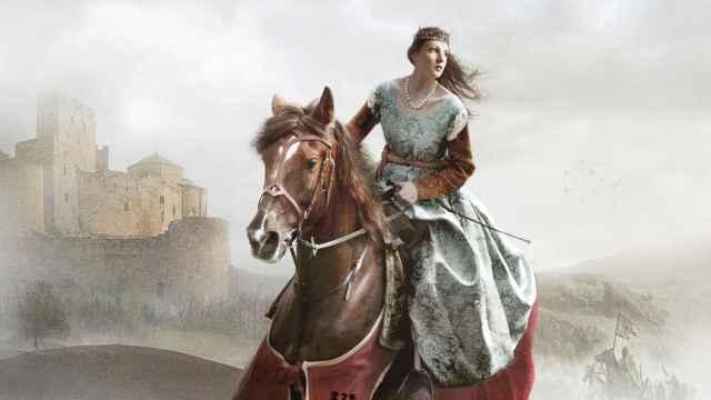Ilustración de portada de 'La reina sola'.